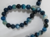 Blue Banded Agate 12 mm round beads-jewelry beads-wholesale beads-jewelry beads-gemstone beads-semi precious beads-agate beads-crystal beads-troll beads