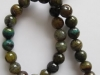Cracked Agate Facet Round Beads