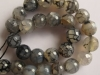 Cracked Fire Agate-12 mm round beads-gemstone beads-agate beads