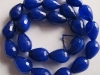 Dyed Blue Jade Tear Drop Beads-Jewelry beads-wholesale beads-jewelry beads-gemstone beads-semi precious beads-agate beads-crystal beads-troll beads