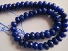 Dyed Blue Jade facet roundel beads