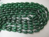 Dyed Green Jade Facet Drop beads