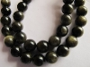 Golded obsidian round beads-black obsidian round beads