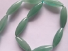 Green Aventurine Long Rice Shape Beads-jewelry beads-gemstone beads-loose beads-semi precious beads