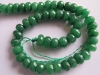Green Jade Facet Roundel beads
