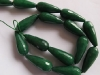 Green Jade facet long drop beads-wholesale beads-jewelry beads-gemstone beads-loose beads-semi precious beads
