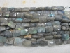 Grey labradorite facet rectangle beads