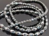 Hematite Facet Round Beads-Facet Rice Shape Beads