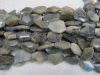 Labradorite facet nugget beads