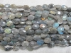 Labradorite facet oval beads