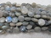 Labradorite facet round coin beads