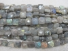 Labradorite facet square beads