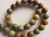 Picasso Jasper Beads 12 mm round beads-wholesale beads-jewelry beads-gemstone beads-loose beads-semi precious beads