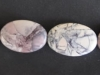 Porcelian Jasper oval beads 18-25 mm