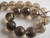 Smoky Quartz facet 12 mm round beads