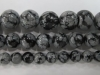 Snowflake Obsidian round beads 6 mm 8 mm 10 mm