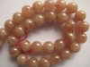 Strawberry quartz beads 12 mm round beads