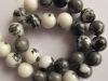 White Black Zebra Jasper round beads 12 mm-jewelry beads-gemstone beads-loose beads-semi precious beads