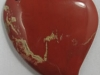 Red Jasper puffy heart charms and pendants