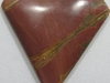 Red Jasper triangle cabochon charms and pendants