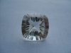 Clear crystal cushion square concave cut