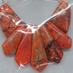 orange imperial jasper beads charms