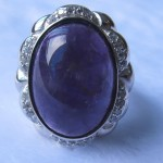 925 sterling silver amethyst gemstone engagement ring