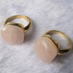 Rose Quartz Facet Cushion Cab Ring