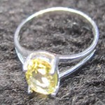 Lemon Quartz Oval Cut 8*10 mm Sterling Silver Ring