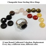 changeable stone cabochon gemstone ring
