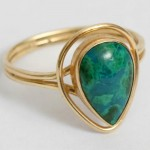 925 sterling silver chrysocolla gemstone ring