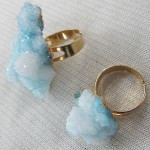 Blue Druzy Quartz Ring