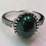 malachite 15*20 mm oval cabochon ring