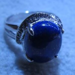 Blue Lapis Lazuli Oval Cabochon 13*18 mm oval cabochon sterling silver ring