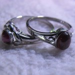 Red Garnet 8*10 mm oval cabochon sterling silver ring
