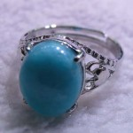 12*16 MM AMAZONITE STERLING SILVER RING