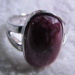 Ruby zoist 12*16 mm oval cabochon sterling silver ring