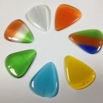 White/Yellow/blue/Orange/Green Cat's Eye guitar pick and guitar pick pendant charm
