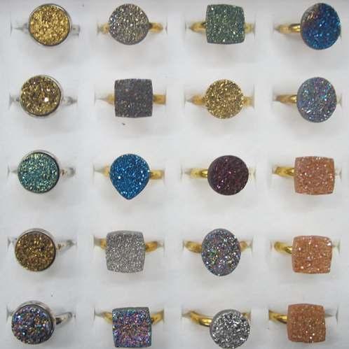 d59f598223cff Druzy Agate Slice Cabochon Ring | SGJ GEMS